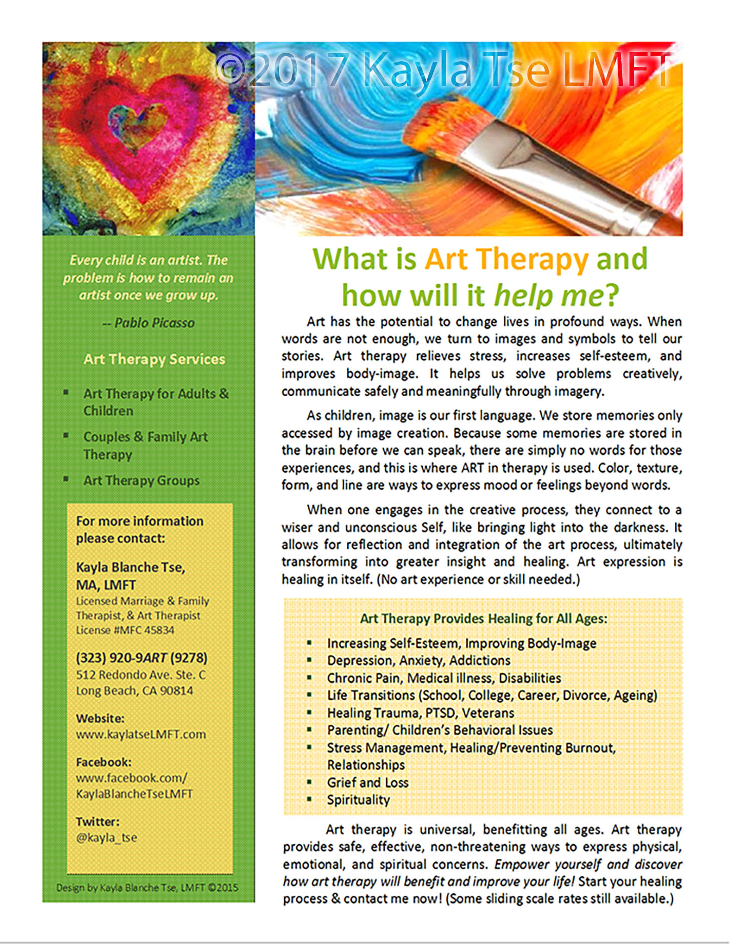 What is art therapy kayla blanche tse lmft solutioingenieria Gallery